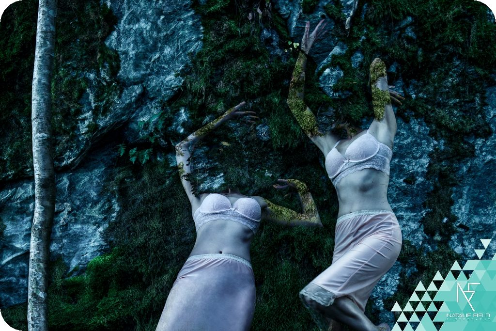 Dancer in the Woods by Natalie Field is a photo-manipulation showing the human form becoming one with nature. Created at Arteles artist residency Finland.