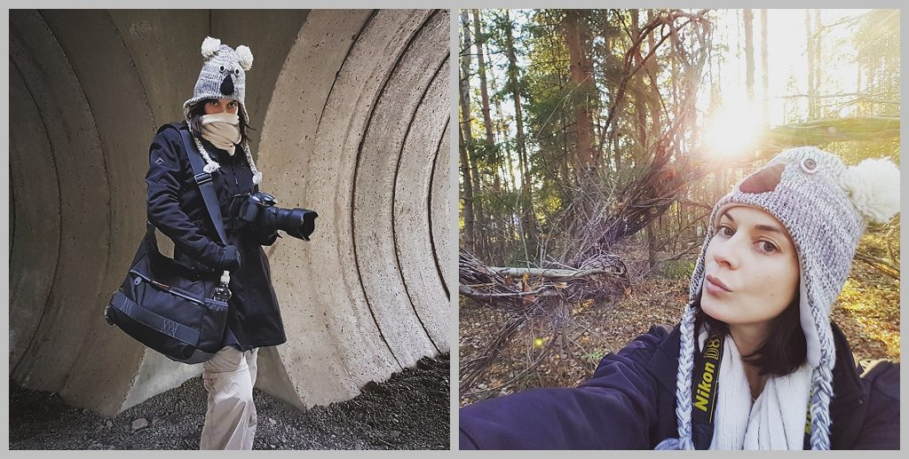 Photography and travel with koala hat at Arteles artist residency Finland by Natalie Field.