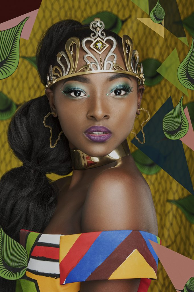 Conceptual African fashion photography campaign Africa in Me for 2018 winners of Miss Glamorous Free State beauty pageant by Johannesburg photographer Natalie Field