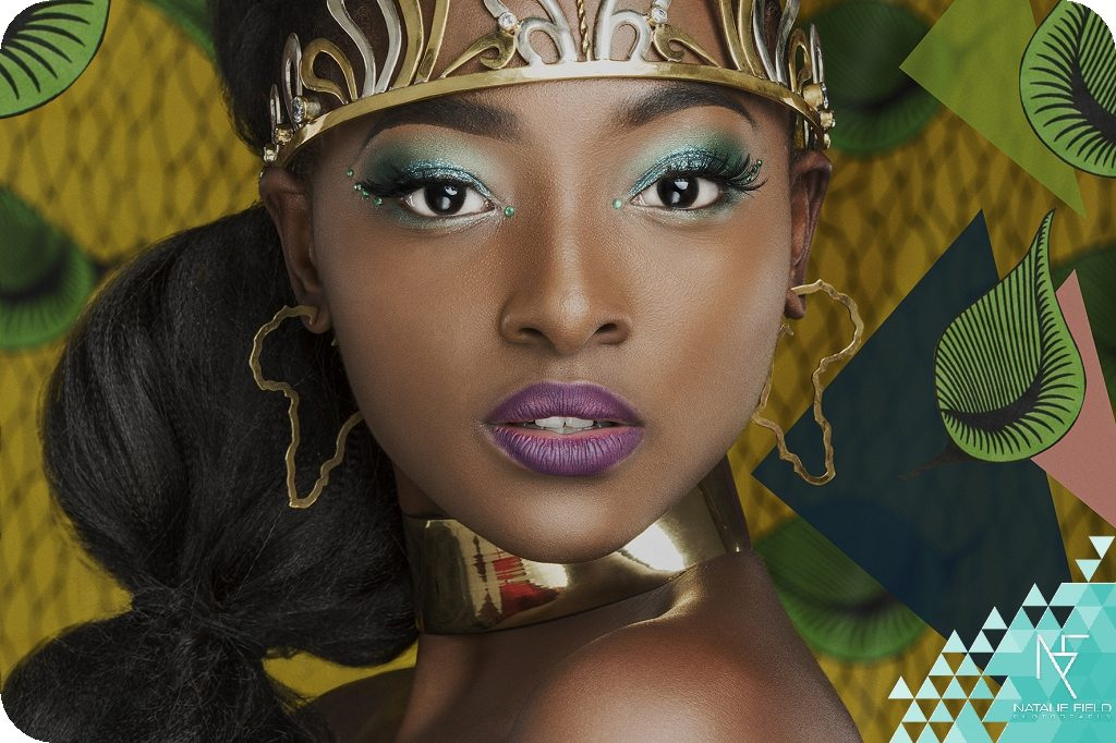 Conceptual fashion campaign Africa in Me for 2018 winners of Miss Glamorous Free State beauty pageant by Johannesburg photographer Natalie Field