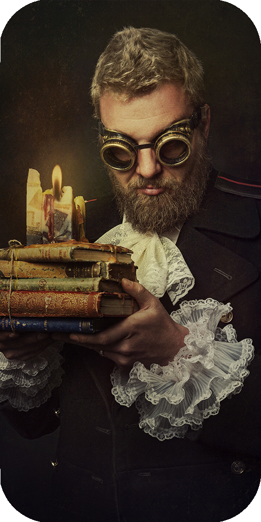 candle lighting books and information with steampunk styling for natalie field resume including awards, exhibitions, publications and presentations