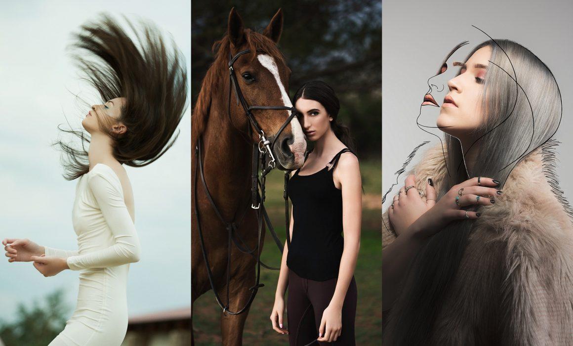 Portraiture of women showing genres like model portfolios, pet portraiture and celebrity portraiture by Natalie Field