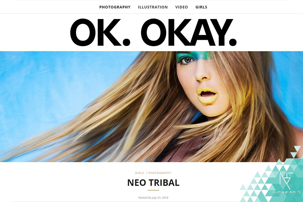 Neo Tribal fashion editorial featuring contemporary urban sub-culture by Natalie Field featured at OK Okay Magazine